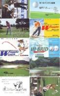 10 Télécartes - Prepaid Différentes JAPON * SPORT GOLF (LOT A-132) JAPAN 10 DIFFERENT GOLF * PHONECARDS * 10 VERSCH TK - Sport