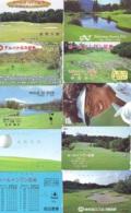 10 Télécartes - Prepaid Différentes JAPON * SPORT GOLF (LOT A-133) JAPAN 10 DIFFERENT GOLF * PHONECARDS * 10 VERSCH TK - Sport