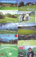 10 Télécartes - Prepaid Différentes JAPON * SPORT GOLF (LOT A-134) JAPAN 10 DIFFERENT GOLF * PHONECARDS * 10 VERSCH TK - Sport