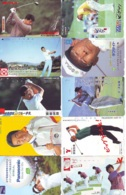 10 Télécartes - Prepaid Différentes JAPON * SPORT GOLF (LOT A-135) JAPAN 10 DIFFERENT GOLF * PHONECARDS * 10 VERSCH TK - Sport