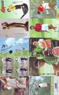 10 Télécartes - Prepaid Différentes JAPON * SPORT GOLF (LOT A-136) JAPAN 10 DIFFERENT GOLF * PHONECARDS * 10 VERSCH TK - Sport