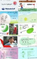 10 Télécartes - Prepaid Différentes JAPON * SPORT GOLF (LOT A-137) JAPAN 10 DIFFERENT GOLF * PHONECARDS * 10 VERSCH TK - Sport