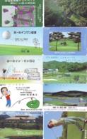 10 Télécartes - Prepaid Différentes JAPON * SPORT GOLF (LOT A-138) JAPAN 10 DIFFERENT GOLF * PHONECARDS * 10 VERSCH TK - Sport