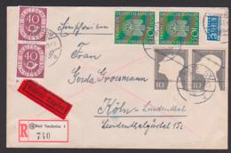 Germany BRD Deutsches Museum Gefangenenmarke R-Ex-Brief MiNr. 163, Mit Steuermarke NO Berlin. Bad Nauheim - [7] Federal Republic