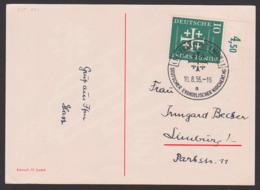 Germany BRD Evangelischer Kirchentag 1956 Frankfurt (Main) MiNr. 235, Anlasskarte, Lasset Euch Versöhnen Mit Gott - [7] Federal Republic