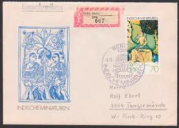 Indische Miniaturen Asavari Ragini, R-Brief Berlin ZPA, FDC DDR 2421 Portogenau - FDC: Briefe