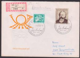 Germany Johannes Brahms DDR FDC 2764, R-Brief Marke Aus Block 69, Berlin ZPF (900) - [6] République Démocratique