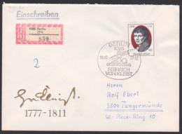Heinrich Von Kleist, DDR FDC 2267, R-Brief Marke Aus Block 51, SoSt. 200. Geburtstag, Berlin ZPA (859) - FDC: Briefe