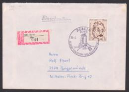 Albert Einstein, Germany, DDR FDC 2402, R-Brief Marke Aus Block 54, SoSt. 100. Geburtstag, Berlin ZPA (044) - [6] Oost-Duitsland