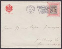 Flaggenstempel Mit Posthorn BERLIN C 2, 22.5.1902 Auf Vordruckbrief D.R.G. M. 152587 Reichsadler Nach Freiberg, 3 Pf. Ge - Germany