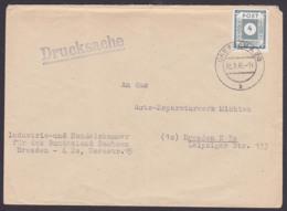 Saxonie SBZ Ostsachsen 4 Pf. MiNr. 61 Dresden A20 20.2.46, Portogenau Drucksache 2. Gewichtsstufe Von Behörde - Sovjetzone