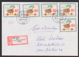 Holzspielzeuge 40 Pf. Kuckuck DDR 2665(5) Aus Kleinbogen, Portogenauer R-Brief Aus Berlin ZPF - [6] République Démocratique