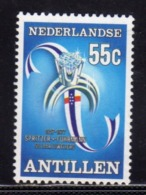 NETHERLANDS ANTILLEN ANTILLE OLANDESI 1977 Spritzer & Fuhrmann DIAMOND RING AND FLAG DIAMANTE ANELLO CENT. 55c MNH - Curaçao, Antille Olandesi, Aruba