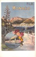"""¤¤  -   MONACO   -  Carte Publicitaire  -  L'Affiche Des Chemins De Fer """" P.L.M. """"  -  Illustrateur      -  ¤¤ - Collections & Lots"""