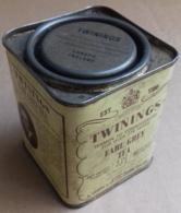 M#0V11 SCATOLA LATTA LITOGRAFATA PUBBLICITA' TWININGS EARL GREY TEA London England - Boxes