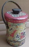 M#0V18 SCATOLA LATTA LITOGRAFATA CESTELLO TEA MADE IN ENGLAND CONTEINER/ FIORI CHINA - Boxes