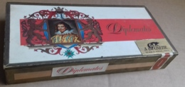 M#0V28 SCATOLA IN LEGNO SIGARI DIPLOMATES Non Completa - Empty Cigar Cabinet