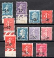 FRANCE - YT N° 217 à 228 - Neufs **/* - MNH/MH - Cote: 24,90 € - France