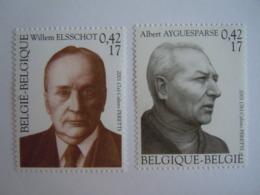 België Belgique 2001 Willem Elschot Schrijver écrivain Albert Ayguesparse 2990-2991 MNH ** - Neufs