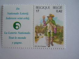 België Belgique 2001 Belgica 500 Jaar Europese Post Expo Ans De Poste Européenene Facteur 17ème Siècle 2997 MNH ** - Belgien