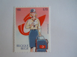 België Belgique 2001 Belgica 500 Jaar Europese Post Européene Avion Auto Facteur Ordinateur 3001 Timbre Du BL91 MNH ** - Belgien