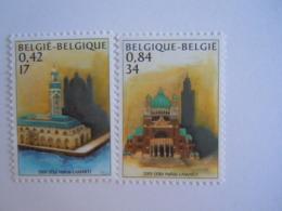 België Belgique 2001 Emission Commune Maroc Mosqué Basilique Gemeenschappelijk Met Marokko 3002-3003 MNH ** - Belgien