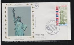 NEW YORK LIBERTE STATUE OF LIBERTY - MONACO 1986 Mi 1760 FDC  Slania Engraved Stamps MONUMENTS ART - Monuments
