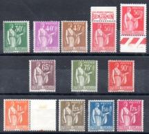 FRANCE - YT N° 280 à 289 - Neufs **/* - MNH/MH - Cote: 148,00 € - France