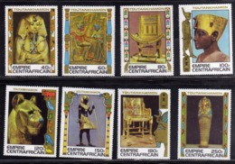 REPUBBLICA CENTRAFRICANA EMPIRE CENTRAFRICAIN CENTRAL AFRICAN REPUBLIC 1978 TOUTANKHAMON COMPLETE SET SERIE COMPLETA MNH - Repubblica Centroafricana