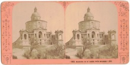 ITALIE BOLOGNE MADONNA DI ST LUCCA SANCTUAIRE MADONE SAN LUCA PHOTO STEREOSCOPIQUE JA N°145 STEREO ANNEE 1900 STEREOVIEW - Stereoscoop