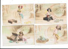 11247 - Lot De 4 CPA Série Enfant - Kinderen