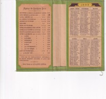 CALENDRIER  1895  LIQUEUR FERRUGINEUSE .  J  TARIBLE    PARIS     PHARMACIE - Calendari