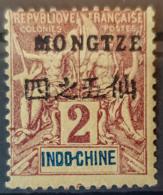 MONGTZE 1903/06 - MLH - YT 2 - 2c - Mong-tzeu (1906-1922)