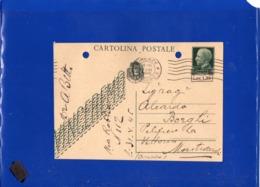##(ANTOC1)-Italia 1-6-1945-Cartolina Postale Soprastampata L.1,20 Su Cent.15 Vinceremo Da Firenze Per Montevarchi Arezzo - 5. 1944-46 Luogotenenza & Umberto II