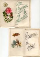 Carte Lettre Non écrite - Lot De 2 CPA Avec Ajoutis - Autres