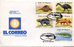 47479 URUGUAY, FDC  1997  PREHISTORY  PREHISTORIC ANIMALS, - Préhistoire