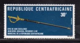 REPUBBLICA CENTRAFRICANA EMPIRE CENTRAFRICAIN CENTRAL AFRICAN REPUBLIC 1977 MARECHAL BOKASSA PRESIDENT EPEE SON 30f MNH - Repubblica Centroafricana