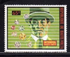 ALTO VOLTA HAUTE VOLTA UPPER VOLTA BURKINA FASO 1973 INTERPOL DIAMONDS DIAMANTI 65fr  MNH - Alto Volta (1958-1984)