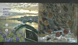 "Authentic-Original-Official  Blister-Triptych ""CRETA Island"" All 6 BU Coins 2017  BU!! - Greece"