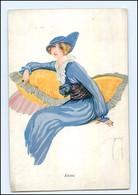 U3656/ Ernst Deutsch Künstler AK  Junge Frau  1914 - Illustrators & Photographers