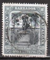 Barbados 1906 Nelson Centenary Single One Farthing Stamp. - Barbados (...-1966)