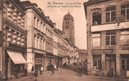 Tournai - La Rue De Pont Et La Tour De L'église Saint-Brice - Maurice Caink - Carte Animée - Tournai