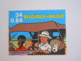 België Belgique 2001 Kuifje In Afrika Tintin Au Congo Hergé Timbre 3049 Du Bloc BL93 Yv 88 MNH ** - België