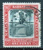 Barbados 1906 Nelson Centenary Single One Penny Stamp. - Barbados (...-1966)