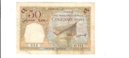 Gibuti Djibouti French Somaliland Pick#25 50 Francs 1952  Camels Lotto.2859 - Djibouti