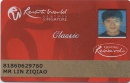 Carte De Casino : Resorts World Sentosa Singapore / Genting Rewards Classic - Casino Cards