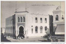 Carte Postale Maroc  Casablanca Banque D'état Du Maroc Trés Beau Plan Animé - Casablanca