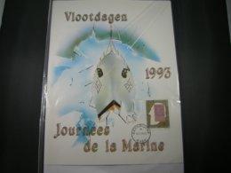 """BELG.1993 2500 FILATELIC CARD """" Vlootdagen /Journées De La Marine 1993 Zeebrugge """" - Militaria"""