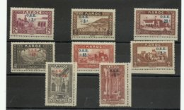 Maroc, Série 153/ 160 Neufs *, Des Adhérences, Cote 44€ - Marocco (1891-1956)