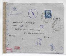 ITALIE - 1942 - ENVELOPPE De L'INSTITUT INTERNATIONAL D'AGRICULTURE à ROMA (CACHET SPECIAL) Avec CENSURE => PARIS - 1900-44 Victor Emmanuel III